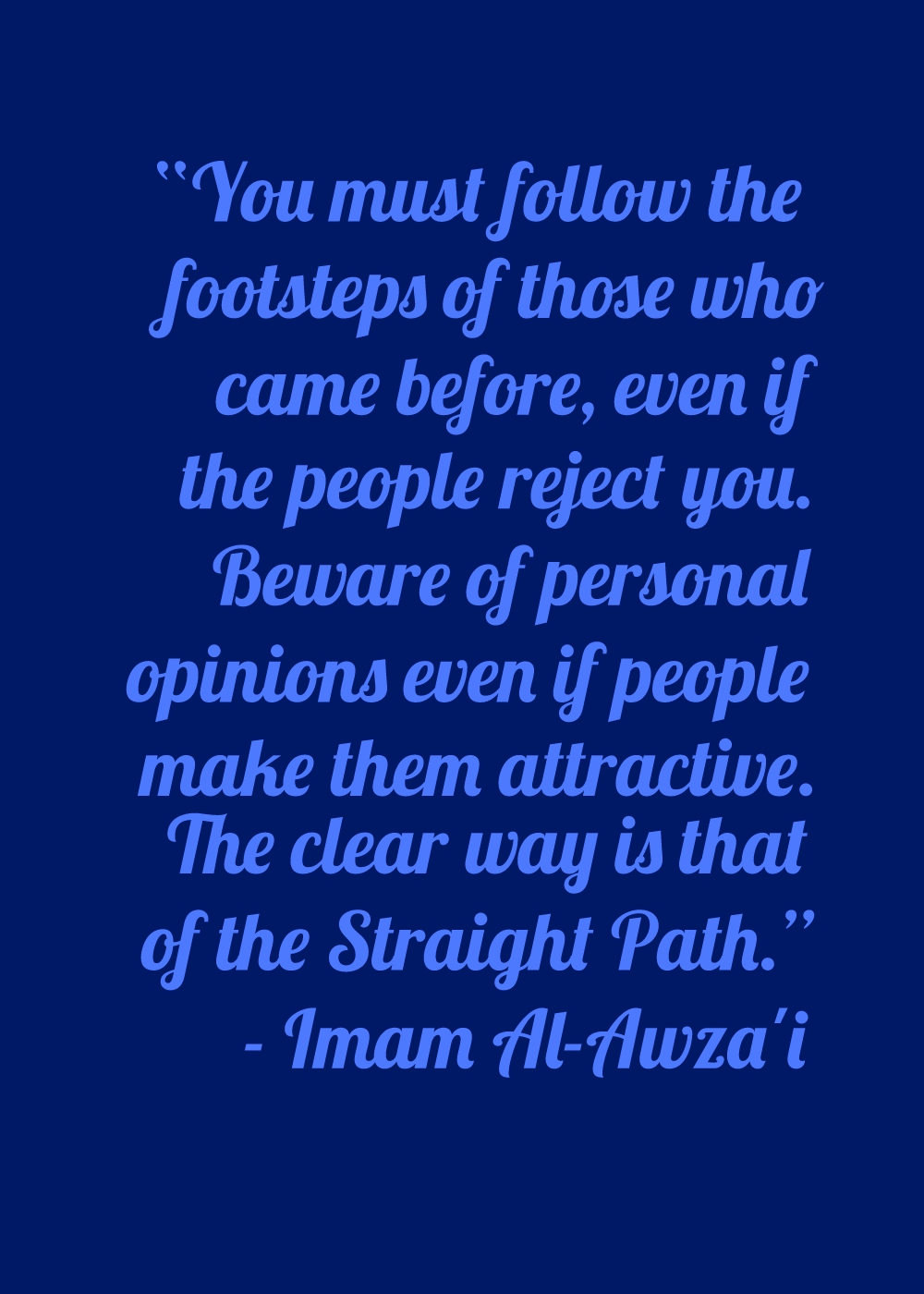 Importance of Following the Righteous Predecessors